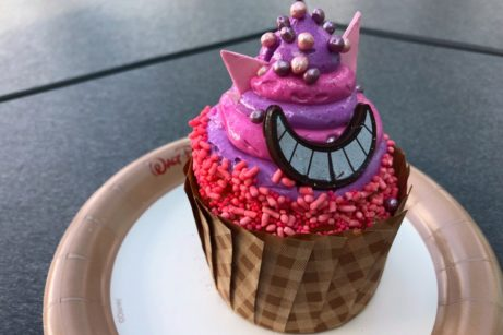 Review! Cheshire Cat Cupcake Is the Cupcake of the Month at All Star Music's Intermission Food Court