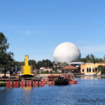 Spotted: Construction Equipment on Epcot's World Showcase Lagoon