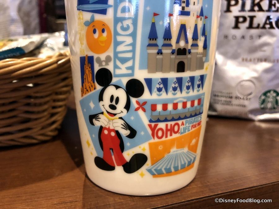 Yo Ho Magic Kingdom Starbucks Ceramic Tumbler Celebrates