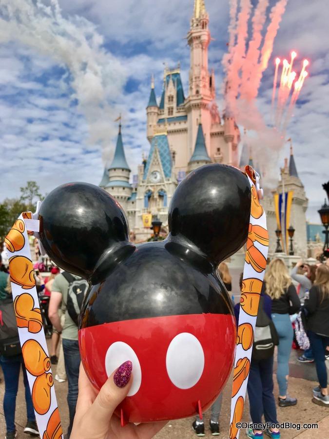 Disneyland Halloween Popcorn Bucket 2019.New Mickey Balloon Popcorn Bucket Floats Into Magic Kingdom