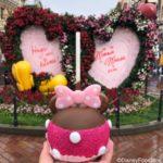 Pink Minnie Caramel Apple Pops Up at Disneyland Resort!