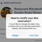 Disney Dining Reservation Modification Options Missing From My Disney Experience App