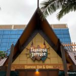 Sign for Tangaroa Terrace, Tropical Bar and Grill Now In Place at the Disneyland Hotel