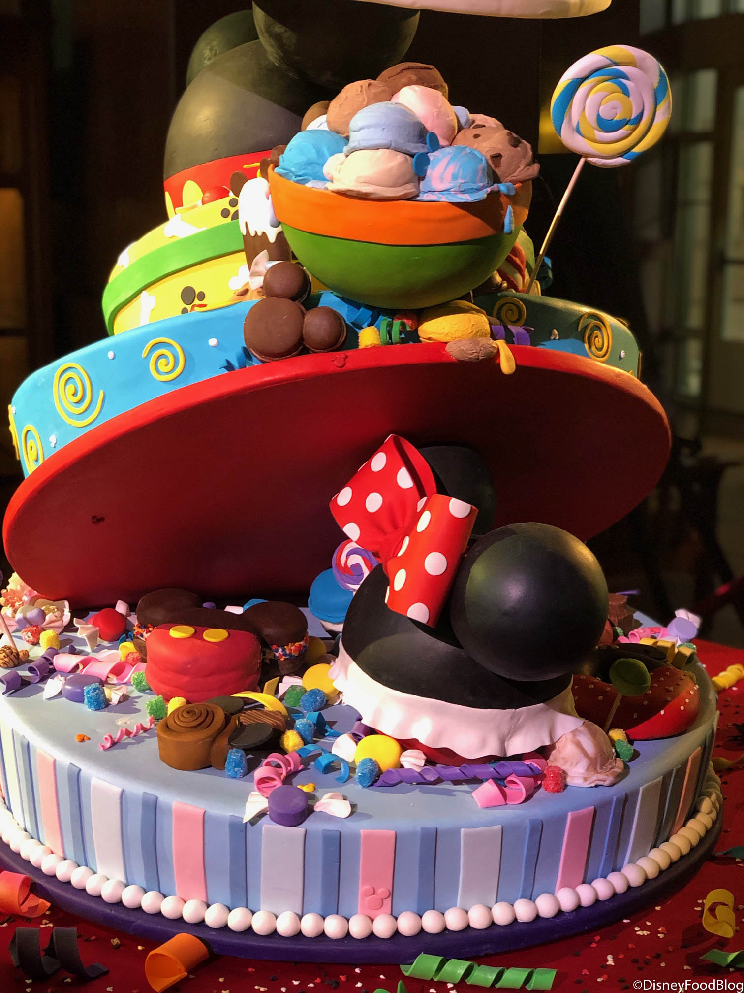 Lower Portion Of Mickeys 90th Birthday Cake