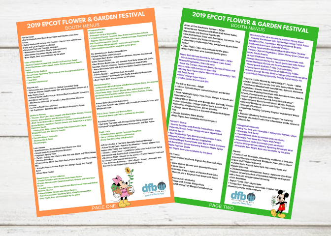 2019 Epcot Flower and Garden Festival Checklist