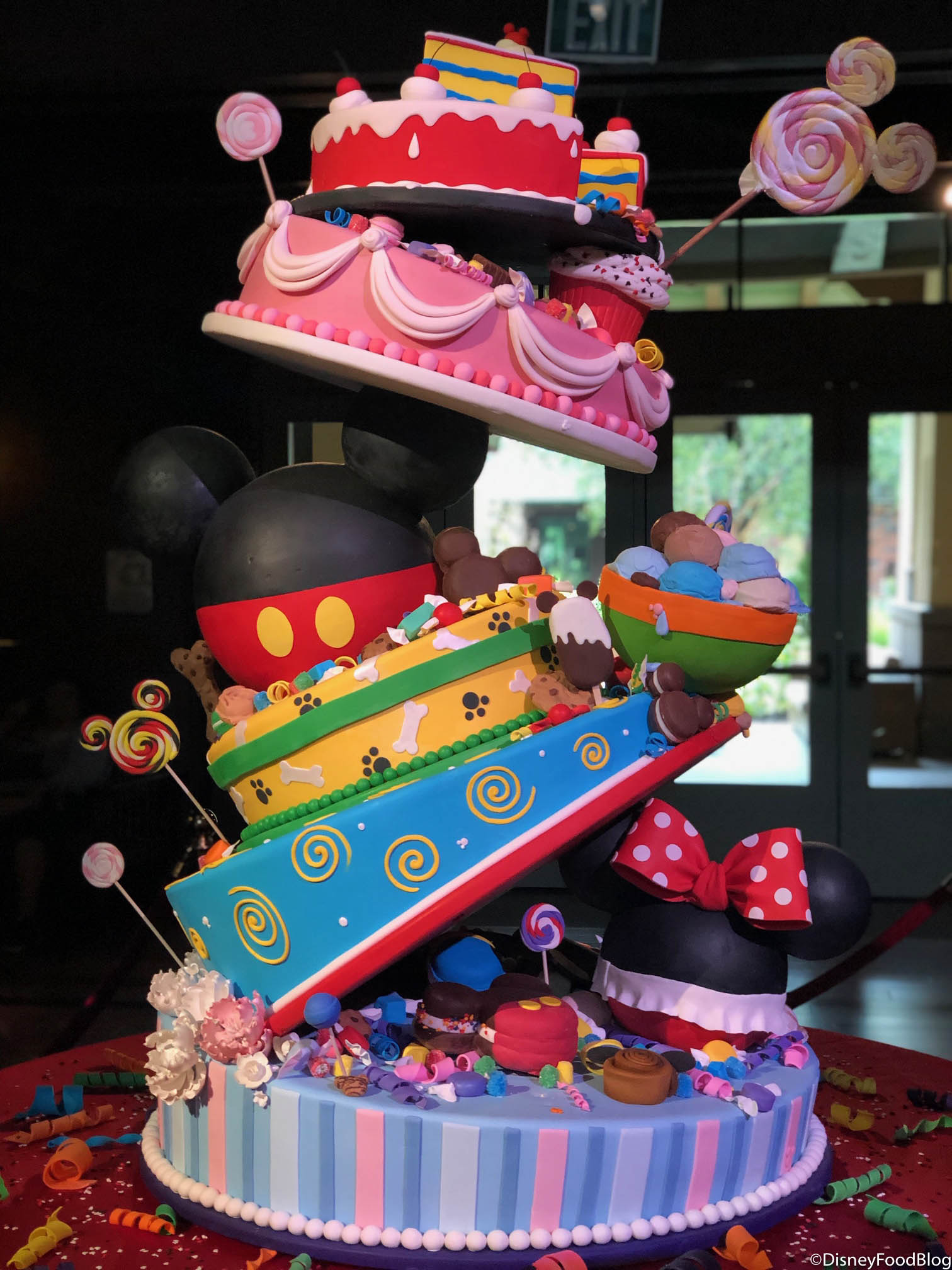 Check Out Mickeys 90th Birthday Cake In Disneyland Resorts Grand Californian Hotel
