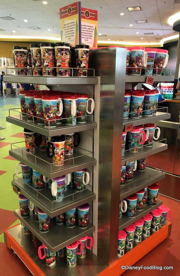 Spotted! New Pixar-themed Refillable Resort Mugs in Walt