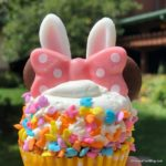 NEW! Photos and Review: Easter Bunny Cupcake from Disneyland's White Water Snacks!