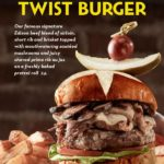 April Burger of the Month at The Edison in Disney Springs: Prime Pretzel Twist Burger