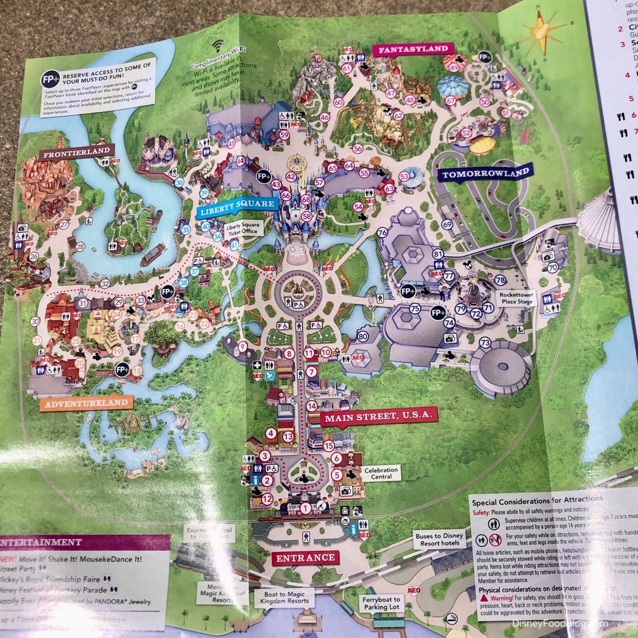Disney Park Map New Disney Parks Rules Effective Today — New Smoking Areas Updated