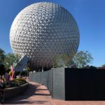 Epcot Entrance Transformation Continues With Removal of Leave A Legacy Now in Progress