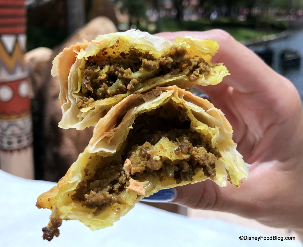 Review New Items Nigerian Meat Pie And More Debut At Epcot S Refreshment Outpost The Disney Food Blog