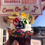 Photos and Review! Rainbow Cupcake at Disney World's BoardWalk Bakery