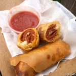 REVIEW: NEW Pepperoni Pizza Spring Rolls Debut in Disney World! (And You WILL Want These.)