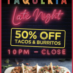 Late Night Just Got BETTER With This Mega Deal From Tortilla Jo's in Disneyland's Downtown Disney!