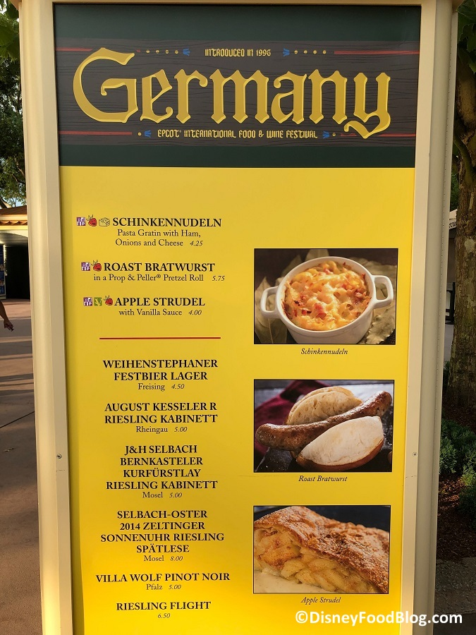 Germany 2019 Epcot Food And Wine Festival