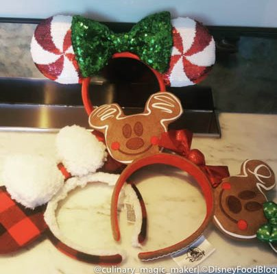Sneak Peek: Gingerbread Minnie Ears, A Mickey Ornament Sipper, And The POPCORN BUCKET Coming To Disneyland for Christmas!