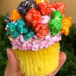 Review!! New Popcorn-Topped Pride Cupcake in Hollywood Studios