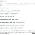 News! Disney World Theme Parks Will Reopen Wednesday, September 4th Following Hurricane Dorian Closures