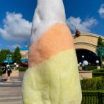 REVIEW: You Have to See the UnBOOlievable Candy Corn Cotton Candy in Disney California Adventure!