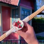 Next Stop: The Churro Cart At Casey Jr. in Disneyland For Santa's Cookies and Milk Churro!