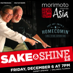 3rd Annual Sake & Shine Returns to Disney Springs with Chefs Morimoto and Smith