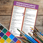 Here's Your *FREE* DFB-Exclusive Printable for ALL the Food at the 2020 Epcot Festival of the Arts!