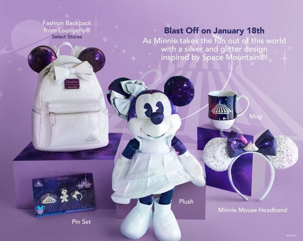Minnie Mouse Main Attraction King Arthur Carrousel Loungefly Disney Backpack