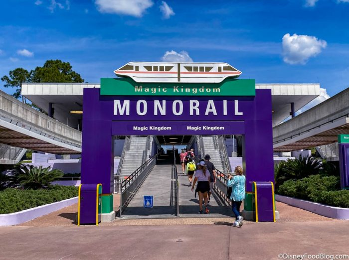 Here's What It's Like to Ride the Monorail in a Reopened Disney World!