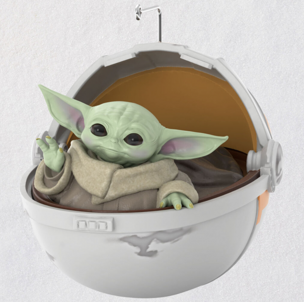 Spotted! This Hallmark Baby Yoda Ornament Is The Keepsake ...