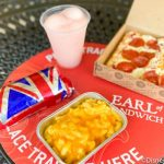 Review! YES. We're Eating Pepperoni Pizza Bread and Mac & Cheese at Earl of Sandwich in Disney World!