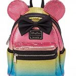 Sparkle and Shine with NEW Loungefly Minnie Mouse Sequined Pastel Rainbow Backpack and Wristlet Available Online Now!