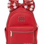 Get Red, White, and SPARKLY With This New Minnie Mouse Loungefly Backpack!