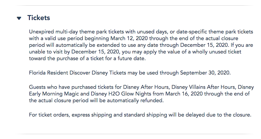 News! Florida Resident Discover Disney World Tickets Eligibility Date  Extended | the disney food blog