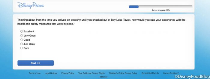 Disney's VERY Detailed Survey Looks for Guests' Experiences at the Newly Re-Opened Hotels!