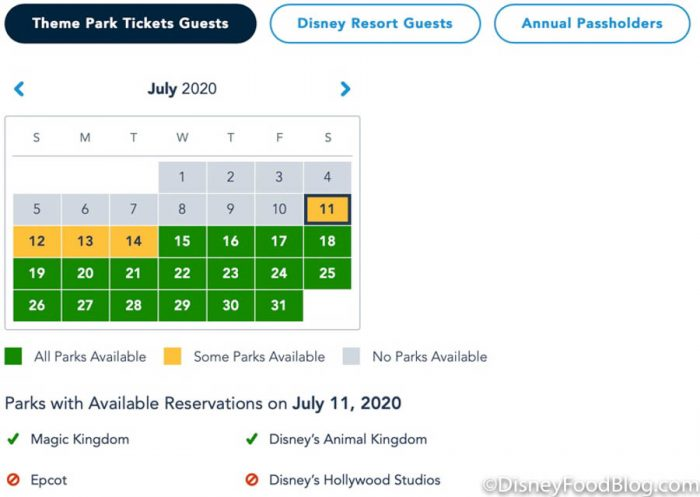 NEWS: Disney Park Pass Reservations are Available NOW for All Existing Ticket Holders!