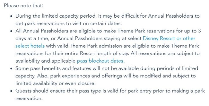 NEWS! We NOW Know How Many Days of Disney World Theme Park Reservations Annual Passholders Can Reserve at a Time