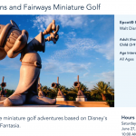 NEWS! Fantasia Gardens Miniature Golf Has Officially Re-Opened in Disney World!