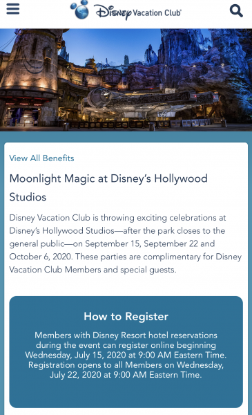 Several Disney Vacation Club Moonlight Magic Events in Disney World Have Been Canceled!