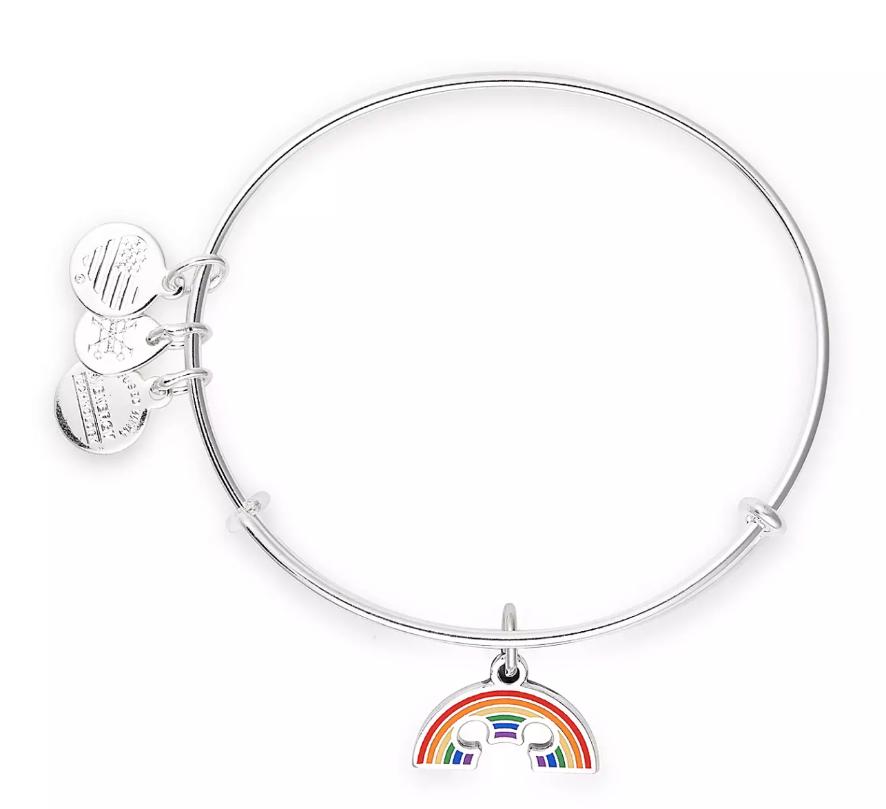 Disney Parks ALEX /& ANI bracelet ARENDELLE Minnie EARS silver tone NEW