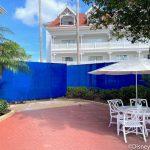 PHOTOS! We've Got a Closer Look at That Crazy BIG Blue Wall at Disney's Grand Floridian Resort!