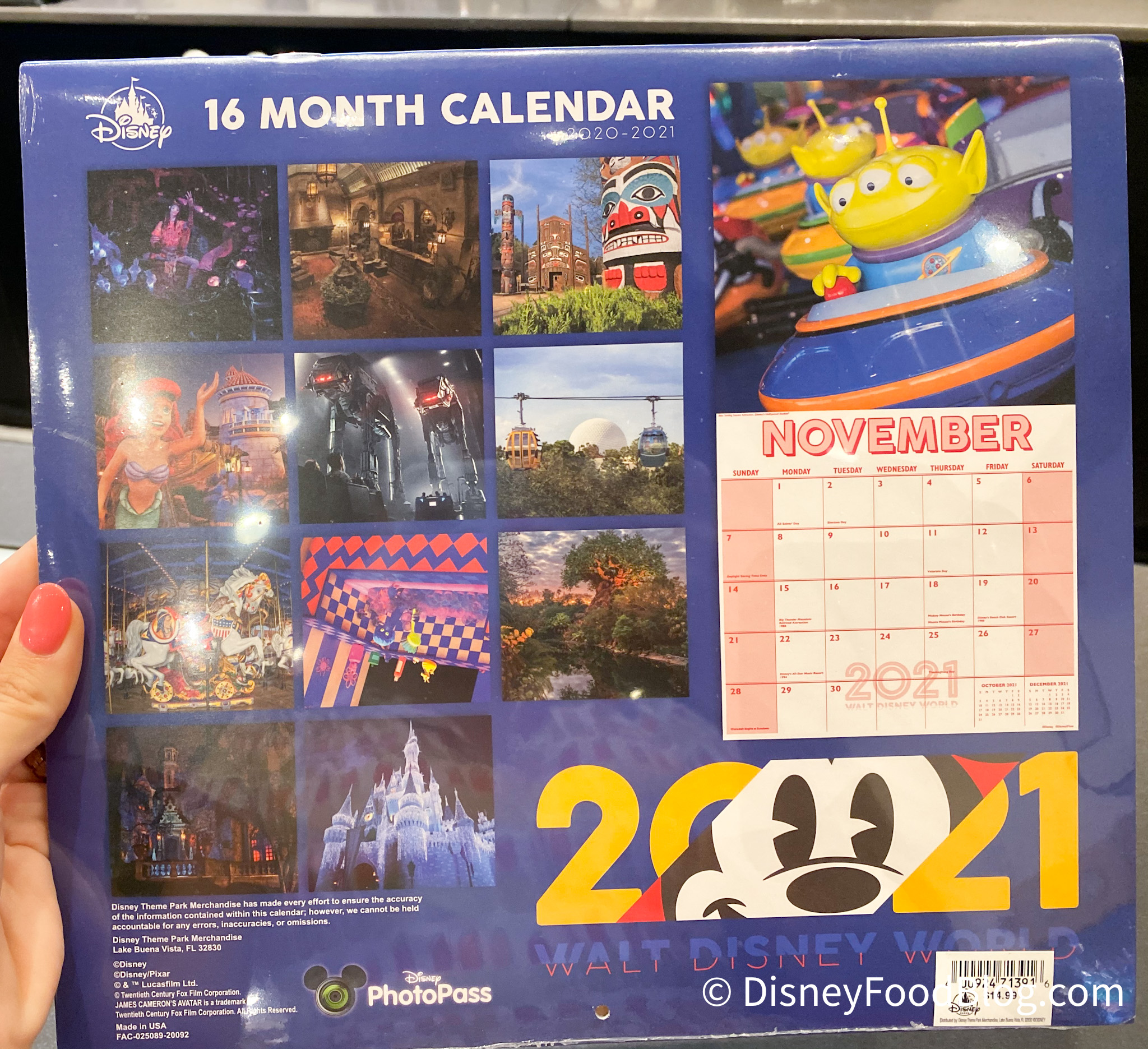 Spotted: A NEW 2020-2021 Calendar Is Now Available in Disney World | the disney food blog