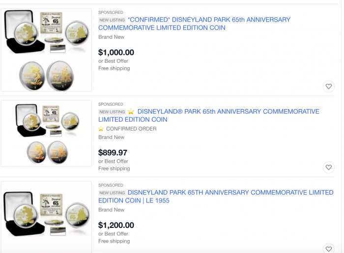 Did You See How Much $$$ Disneyland's 65th-Anniversary Merchandise Is Now Being Resold For on eBay?