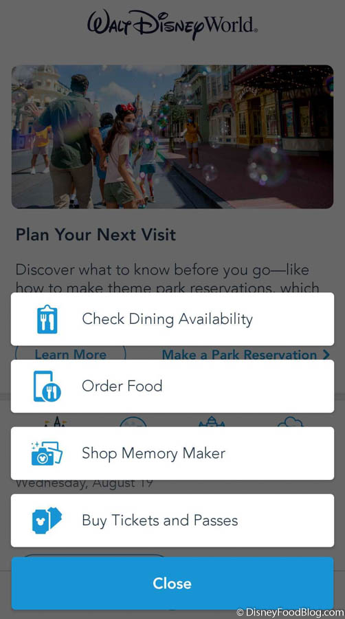 A New Dining Option Arrived On The Disney World App Today The Disney Food Blog