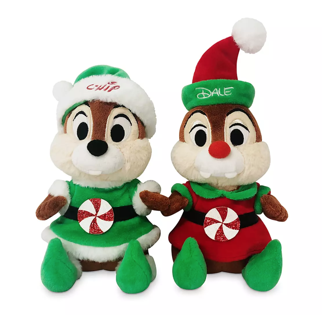Donald /& Pluto 3 piece set New Disney X-mas round elf plush dolls Mickey