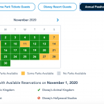 HEADS UP PASSHOLDERS! It's Time To Book Your Thanksgiving Park Passes in Disney World!