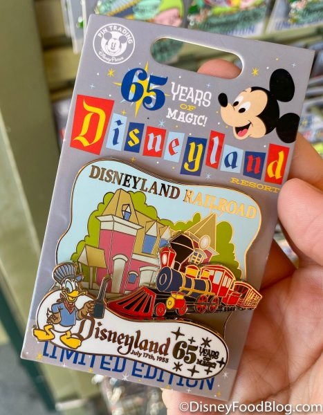 Limited Edition Disneyland 65th Anniversary Pins Are Now Available in Downtown Disney!