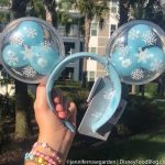 PHOTOS! The Mickey Balloon Ears in Disney World Got a Wintery GLOW UP!