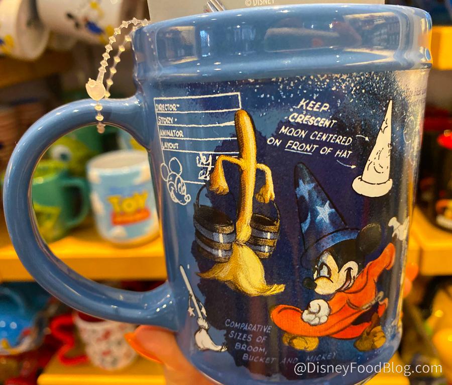 MUG CUP TASSE SORCIER SORCERER MICKEY BALAI  Disneyland Paris NEUF BROOM