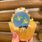 There's a Candy Corn SURPRISE in This Halloween Cupcake in Disney World!